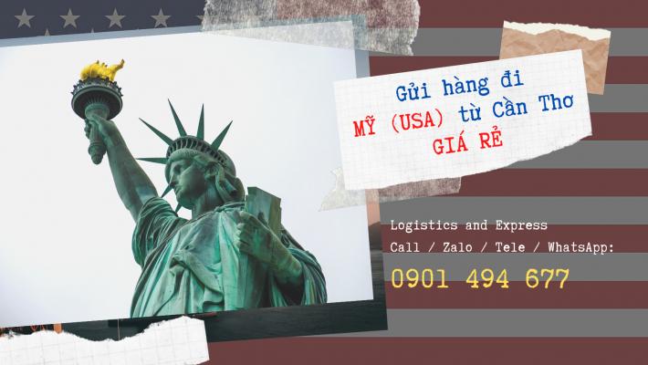 Gửi hàng đi Mỹ từ Cần Thơ giá rẻ
